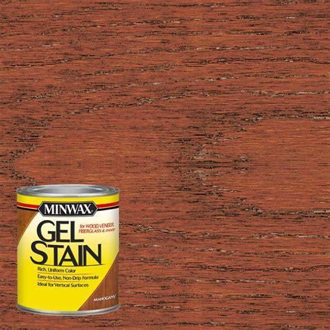minwax 1 qt mahogany gel stain 66050 the home depot