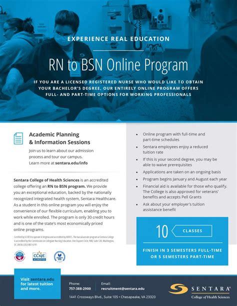 Bsn Programs - rn to bsn degree program sentara college of