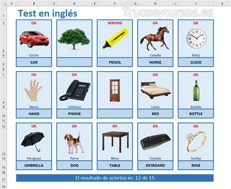 imagenes palabras en ingles test de palabras en ingl 233 s de excel trucos y cursos de excel