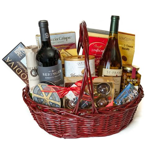 Country Gifts - wine country gourmet gift basket
