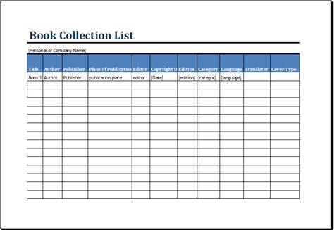 book template excel printable book inventory list template ms excel excel
