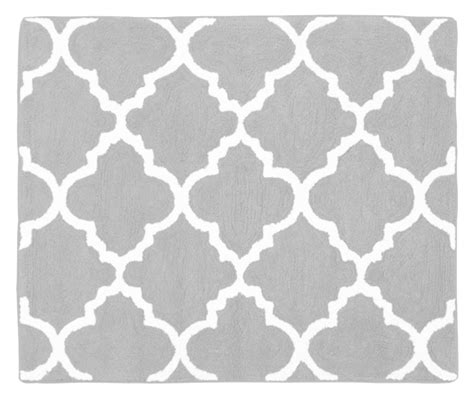 gray and white bathroom rugs gray and white trellis baby and childrens accent floor rug and bath mat by sweet jojo designs