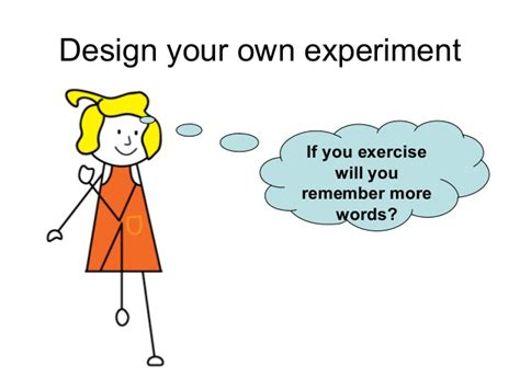 Design Your Experiment | design your own word memory experiment
