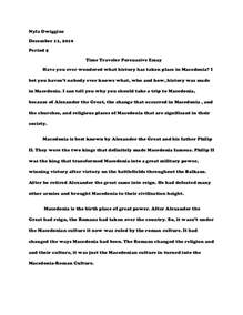 Thesis For Persuasive Essay by Persuasive Essay