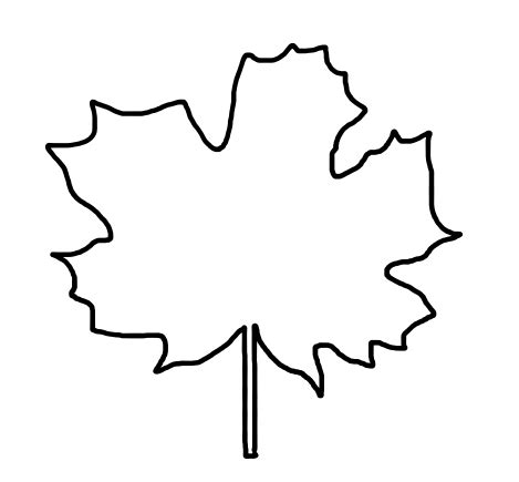 printable traceable leaves best photos of leaf stencils for tracing fall leaf