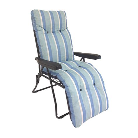 reclining garden chairs asda miami relaxer chair with cushion blue garden furniture