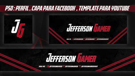 layout capa youtube download template capa para facebook template free download