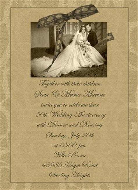 Invitation Letter For 50th Wedding Anniversary 1000 Ideas About Anniversary Invitations On