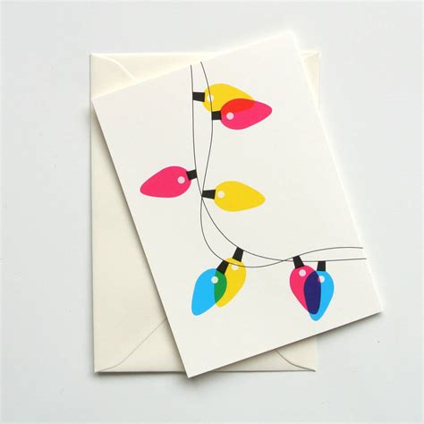 festive lights mixed set of eight christmas cards by ruka