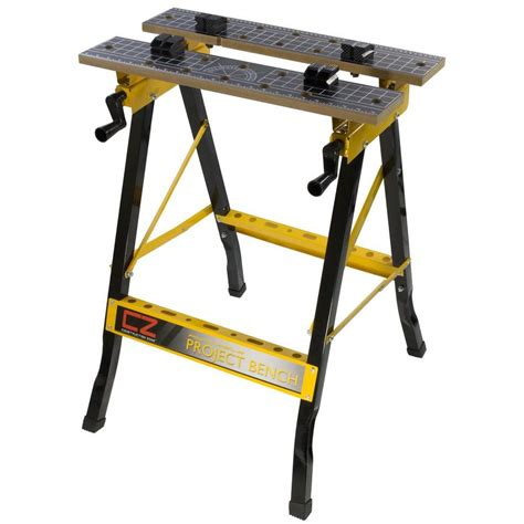 portable work bench construction zone 2 ft portable workbench with storage