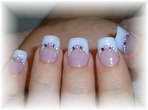 wedding toe nail art design white on white french pedicure endearing wedding nail art design idea with pale blue and