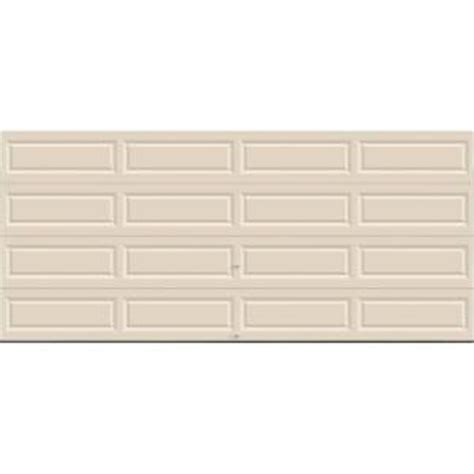 Almond Color Garage Door by Clopay Value Series 16 Ft X 7 Ft Non Insulated Solid
