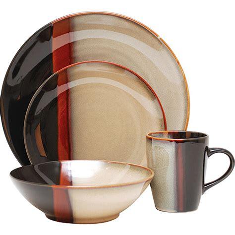 sango tempo 16 piece dinnerware set black kitchen dining walmart com
