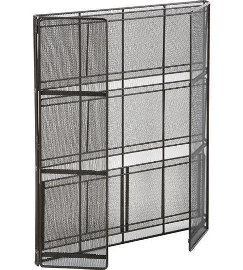 Mesh Shelf by Black Mesh Shelving Unit In Free Standing Shelves