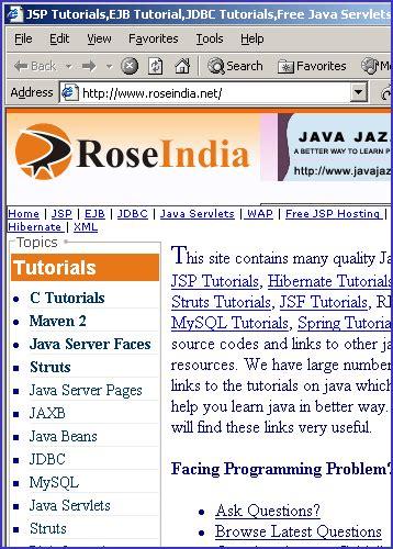 javascript tutorial roseindia javascript open method