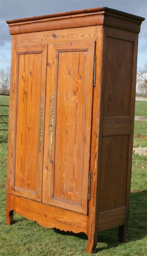 solid pine armoire an imposing french solid pine armoire wardrobe 268091