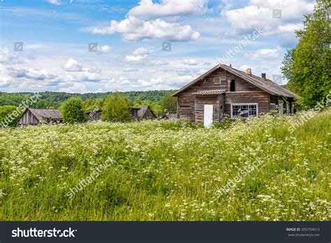 old wooden house in russian village stock photo colourbox old wooden house russian village stockfoto 305794013