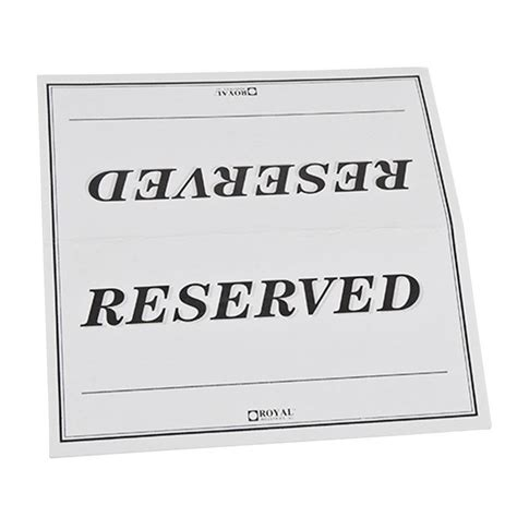 Table Reservation Card Template by 7 Best Images Of Printable Reserved Table Signs Free