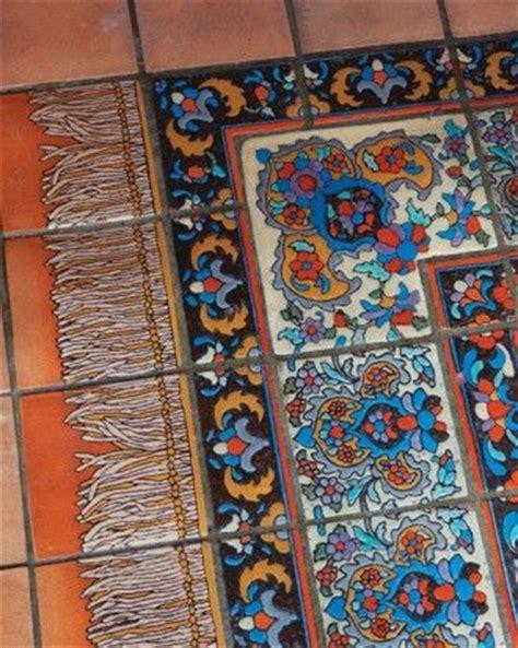 talavera tile rug mexican tile rug tile