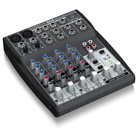 Mixer Audio Behringer Xenyx 802 behringer xenyx 802 mixer at gear4music ie