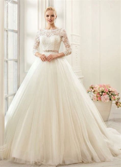 Princess Style Wedding Dresses by Princess Style Wedding Gown With Sleeves Superb