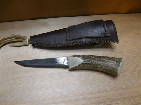 Handmade File Knives - made nicholson file knife with custom sheath by