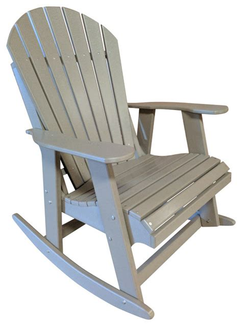 Poly Lumber Adirondack Chairs by Shop Houzz The Outdoor Chair Poly Lumber Adirondack Rocking Chair Outdoor Rocking Chairs