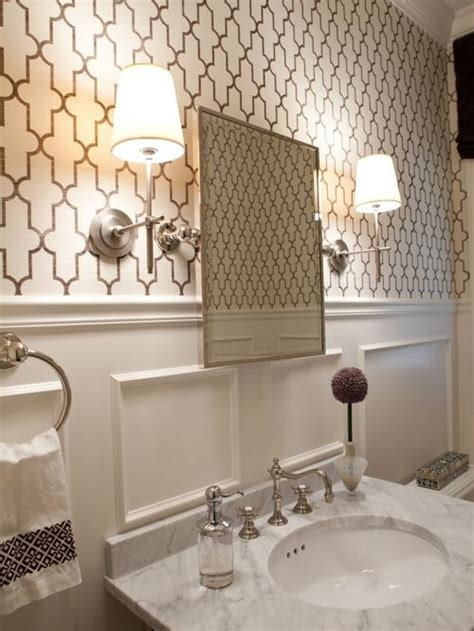 Bathroom With Wallpaper Ideas Best Moroccan Inspired Wallpaper Design Ideas Remodel Pictures Houzz