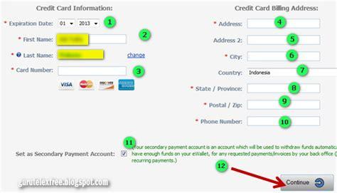 Atau Credit panduan cara menarik atau withdraw dengan kartu kredit atau credit card panduan telexfree