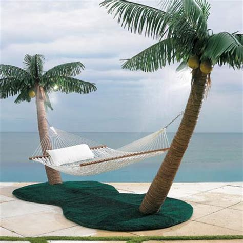 Hammock Palm Trees palm tree hammock stand with cooling mist sprayers coconuts the green