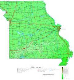 us map missouri missouri contour map