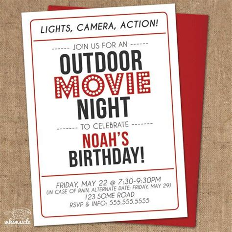 backyard movie night invitations movie night invitation diy printable outdoor backyard