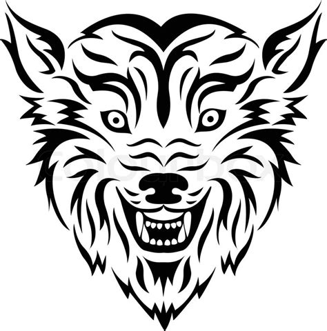 wolf tribal tattoo stock vector colourbox