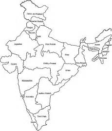 India Political Map Outline With States by How To Draw Indian Map On A Chart Brainly In