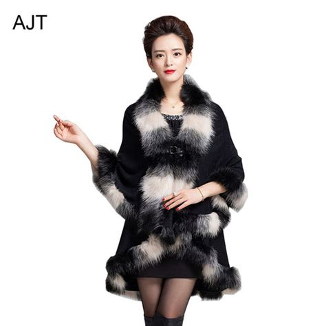 cape that keeps hair off of neck cardigan cape shawl faux fur neck cape fake wolf hair