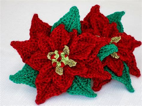 pattern crochet poinsettia poinsettia applique crochet pattern by marilyn smith