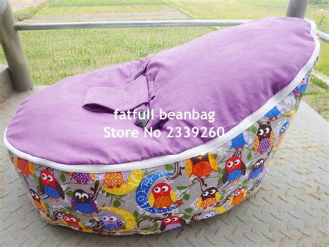 Bebibum Newborn Cover Only cover only no fillings hoot owl canvas pink vine baby infant bean bag snuggle bed portable seat