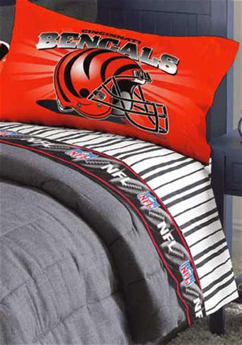 bengals comforter cincinatti bengals queen size pinstripe sheet set