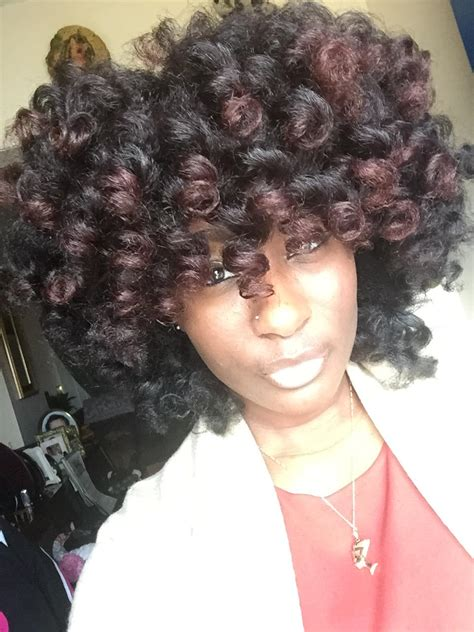 rod curl hairstyles pictorial perm rod set on 3c 4a natural hair i am team