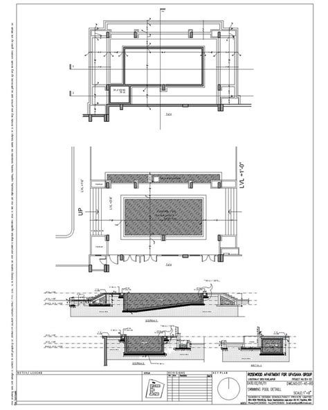 idea infinity plan swimming pool section detail drawinterior com infinity
