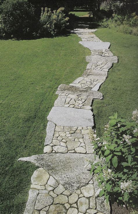 rock pathways stone walkway landscape by design pinterest
