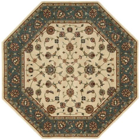 octagonal rug nourison arts light blue 5 ft 3 in octagon area rug 796097 the home depot