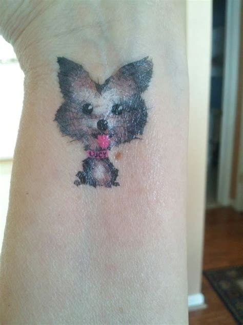 the cutest little yorkie tattoo tattoo to you