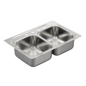 kitchen bowl sink moen stainless steel double bowl kitchen sink g202134