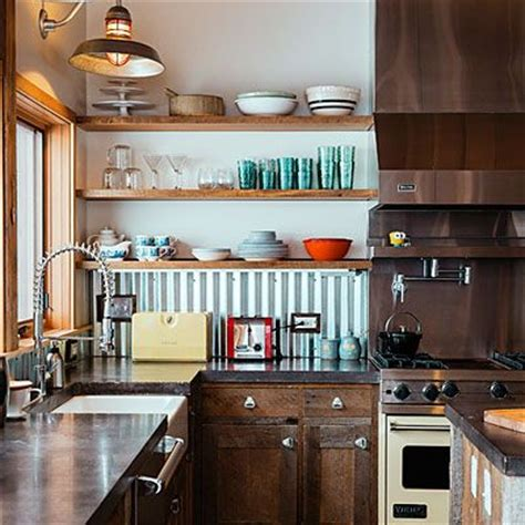 corrugated metal backsplash how to design an eco friendly cabin countertops industrial and how to design