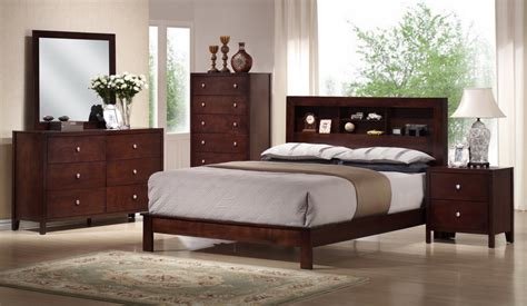 contemporary wood bedroom furniture baxton studio montana mahogany brown wood 5pc modern