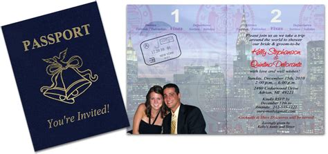 Custom Passport Invitation Cards