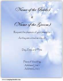 Download the free printable online wedding invitation template form