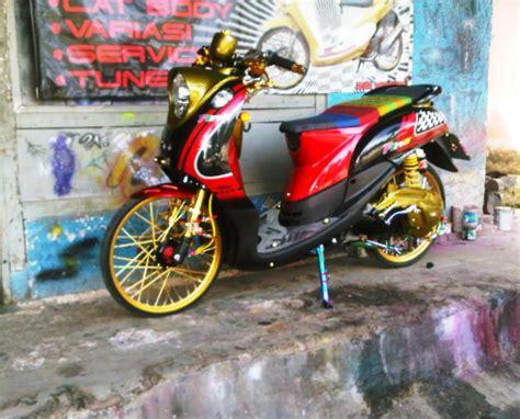 Modif Mio Fino Sporty by Modifikasi Motor Yamaha Mio Fino Keren Modif Balap