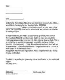 Tax Deductible Donation Letter Template by 5 Donation Acknowledgement Letter Templates Free Word
